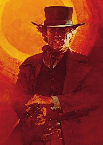 1980's Movie - PALE RIDER - Clint Eastwood - P1 / canvas print - self adhesive poster - photo print